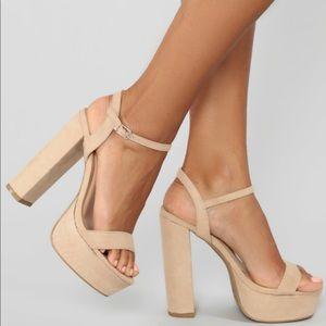 Fashion Nova nude platform heels